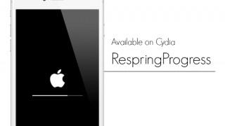 【Tweak】RespringProgress – リスプリングや再起動時の進捗状況をプログレスバーで表示する