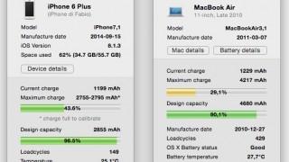 iPhone, iPad, iPod touchのバッテリーのヘタリ具合を調べられるMacアプリ『coconutBattery』が便利!