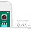 【Tweak】QuickShoot Pro – カメラアプリを起動しなくても画面のどこからでも写真や動画撮影ができるように